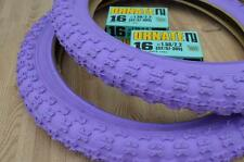 "New PURPLE Kids Bicycle Tires and Tubes 16 x 2.125 Fits 1.75 1.95 BMX 16"" Girls"