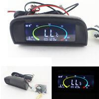 Lcd Digital Voltmeter + Water Temperature Gauge Meter For 12-24V Car Truck