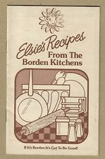 Borden's Elsie's Recipe Booklet 16 Recipes Using Borden Products 50 Yr. Anniver.