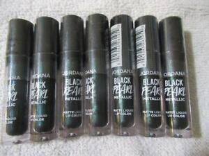 7 Jordana Black Pearl Metallic Matte Liquid Lip Color Lipstick 05 Sorceress 7 pc
