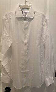 Charles Tyrwhitt Shirt White Button Up Shirt Slim Fit 14.5/33in