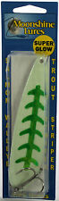 "MOONSHINE LURES GLOW IN THE DARK MAGNUM 5"" TROLLING SPOON - SHELLY SNACK"