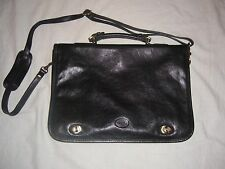 Toscanino briefcase genuine black Tuscany Leather. Original price $565. Italy.