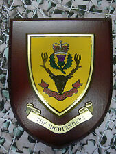 Regimental Plaque/Shield - The Highlanders