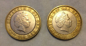 DOUBLE SIDED COIN TWO POUND £2 Heads or Tails  MADE FROM REAL COINS
