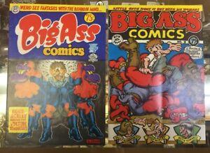 Big Ass Comics1969 & 1971 Two Issues  Underground  R. Crumb, Rip Off Press