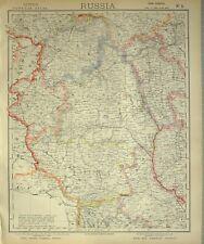1882 LETTS MAP RUSSIA VOLHYNIA GRODNO MINSK VILNA MOGHILEV