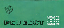 Peugeot 204 304 404 504 inc Convertible and Coupé UK market sales brochure 1971