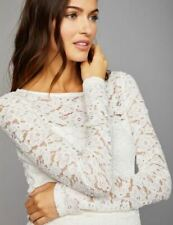 NWT Pea in the Pod Floral Lace Peplum Maternity Top Gardenia Ivory $78 XS