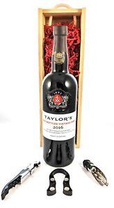 Taylor Fladgate Late Bottled Vintage Port 2016 in a wooden presentation box,