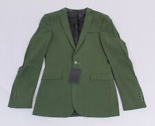 Asos Men's Solid Super Skinny Suit Jacket AN3 Khaki Green Size 36 NWT