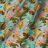 "Multi Leafs 44"" Wide Pure Cotton Fabric Printed Cloth Sewing for Dress Making"