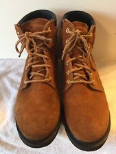 Ramrods Brown Leather Work Boot Men 9.5 Oil Resistant Lace Up Ankle