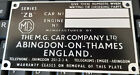 STAMPED 4 YOU MG  ZA ZB MAGNET RARE ID TAG PLATE ALL-BLANK-VIN-CHASSIS-PLATES