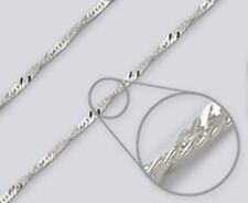 Wave Chain Anklet / Lg. Bracelet - 2.4mm*, 9 inch*, Sterling Silver (Italy) [aB]