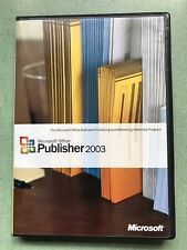 Microsoft Office Publisher 2003 Disk/case