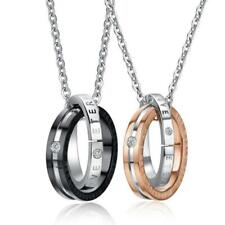 Wholesale Interlocking Ring His and Hers Matching Couple Necklace (Bulk Buy)