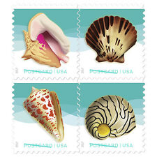 USPS New Seashells Postcard Rate Pane of 20
