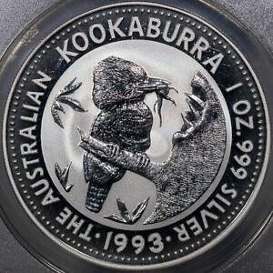 1993 AUSTRALIA KOOKABURRA S$1 ANACS MS70 DCAM ANACS CERTIFIED 1OZ SILVER NICE BU