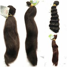 100% HUMAN HAIR FRENCH BULK - 16, 18, 20  inches