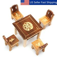 1:12 Wood Furniture Doll House Family Christmas Xmas Toy Set for Kids Children