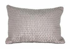 Vera Wang Stitched Silk Decorative Pillow Taupe 12 x 16