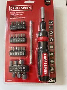 Craftsman Tools 26-Piece Ratcheting Multi-Bit Screwdriver Set CMHT68001