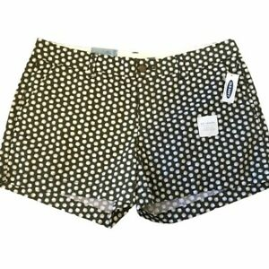 "Old Navy Olive Green Seashell Print Shorts 3.5"" NWT Sz 8 Summer 3.5"" Inseam"