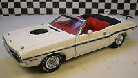 1:18 Greenlight 1970 Dodge Challenger Convertibile Bianco