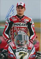 Chaz DAVIES SIGNED DUCATI Rider Autograph Photo AFTAL COA WSB Australia