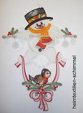 PLAUENER SPITZE ® Windspiel WINTER Fensterbild SCHNEEMANN Weihnachten Kinder NEU