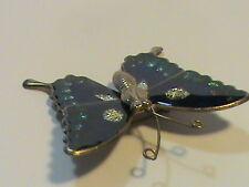Butterfly Brooch Vintage Glitter
