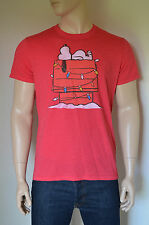NEW Abercrombie & Fitch Charlie Brown Snoopy Peanuts Graphic Tee T-Shirt Red XL