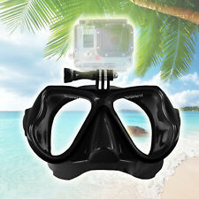 1pcs Black Diving Mask Scuba Snorkel Goggles Face Glasses Mount For GoPro Hero