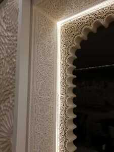 Moroccan Gypsum Plaster Arch, Decorative Cornice Panels. Wall & Ceiling Patterns