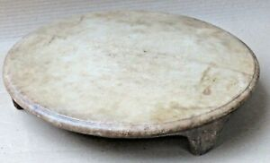 VTG Marble stone PLATE Circular top Reuse statue decor footstep bathroom siting
