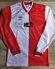 Umbro 90's Vintage #14 England Jersey Football Soccer Hilti Shirt Long Sleeve