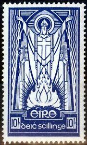 Ireland 1945 10s Dp Blue SG125 Fine MNH
