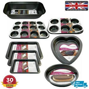 Non Stick Baking Trays Bake Pan Oven Sheet Roasting Cooking Set Premium Bakeware