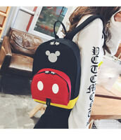 Mickey Mouse Women Canvas Backpack Backpacks Girl School Casual Travel Bag