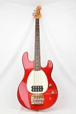 Samick Bass Guitar, metalflake Candy Apple Red, FWO, bag & new strings
