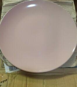 "Set of 8 Mainstays 10.5"" Pink Dinner Plates Glass/Stoneware"