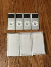 Lot of 4 Apple Ipod Nano 2GB YM7051GKVQ6 *As Is* Batteries Dead