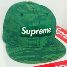 SUPREME NEW ERA SS07 TIGER BOX LOGO 7 3/8 HAT 2007 FITTED CAP AUTHENTIC GREEN