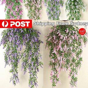 2X Artificial Ivy Flower Vine Garland Hanging Home Garden Trailing Basket Plants