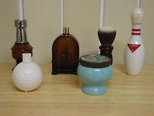 LOT 6 AVON Decanter/Bottles Golf Ball Bowling Pin Chess Spicy Barber Shop Brush