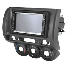 2007-08 Honda Fit Single / Double DIN Black Stereo Dash Kit with Pocket