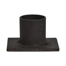 Single Black Iron Taper Candle Holder
