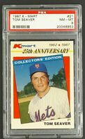 1987 K-Mart #21 Tom Seaver HOF New York Mets PSA 8 NM-MT
