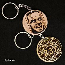 Jack Nicholson The Shining Heres Johnny Room 237 engraved wood keyring Keychain